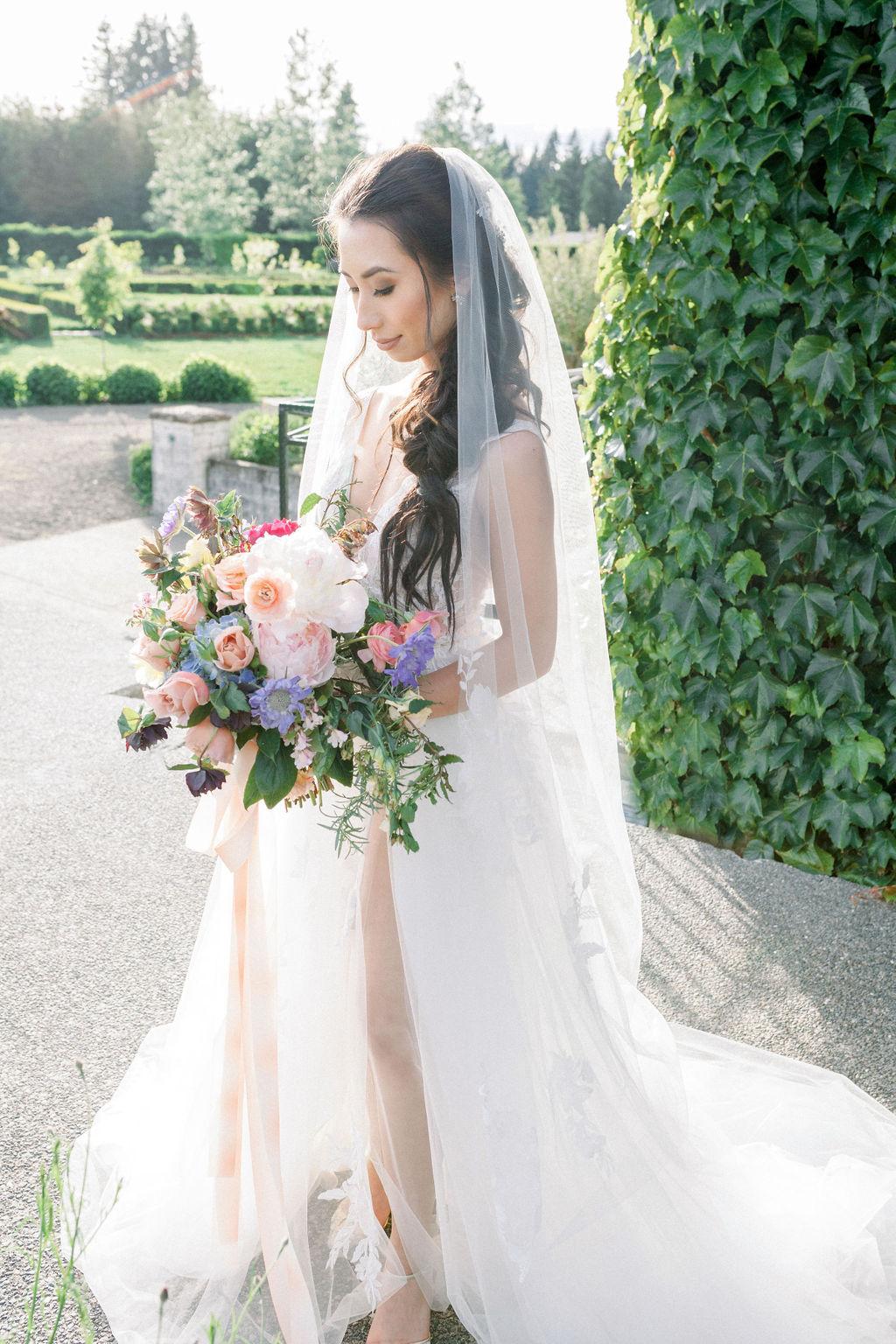 Romantic Watercolor Inspired Bridal Portrait