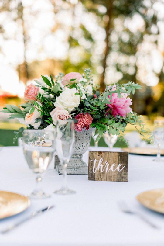 Rustic Elegant Wedding Centerpiece Table Number