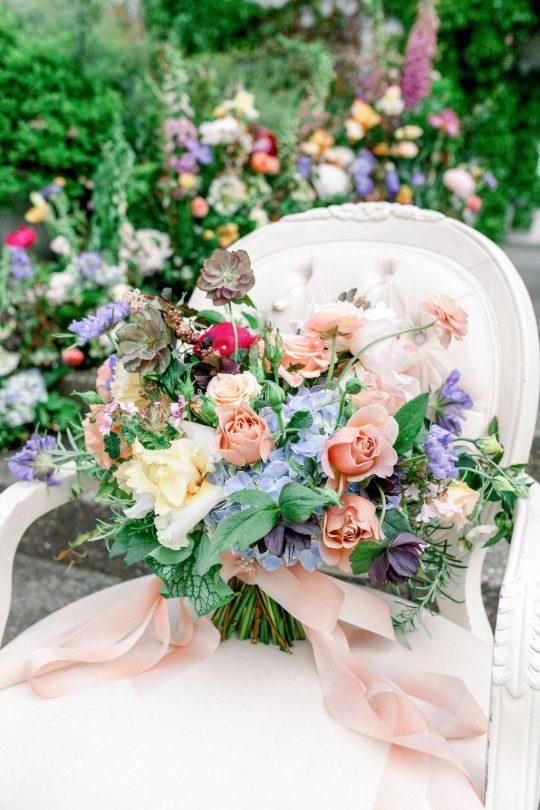 Watercolor Inspired Wedding Bouquet