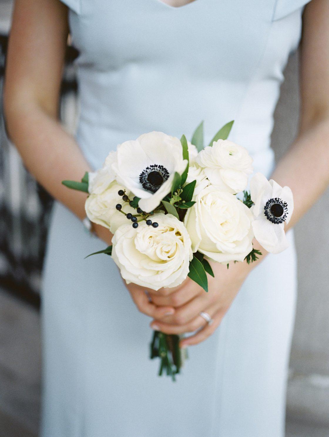 Black and White Bridesmaids Bouquet