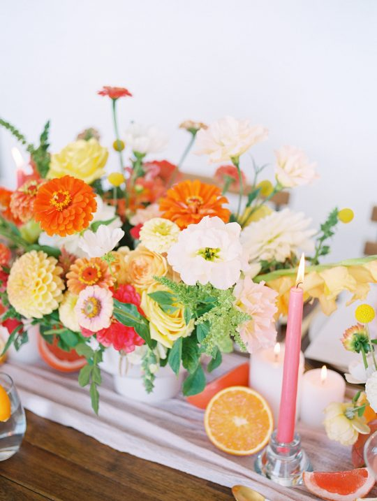 Bright Summer Wedding Florals