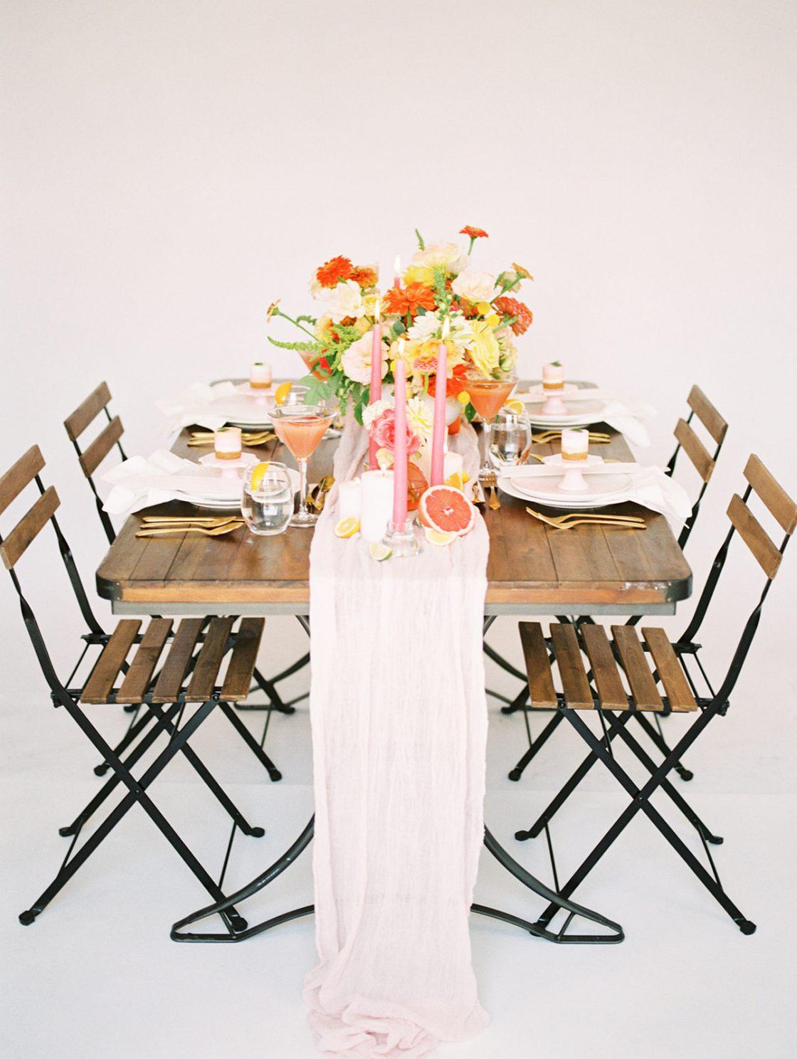 Bright and Rustic Citrus Wedding Inspiration
