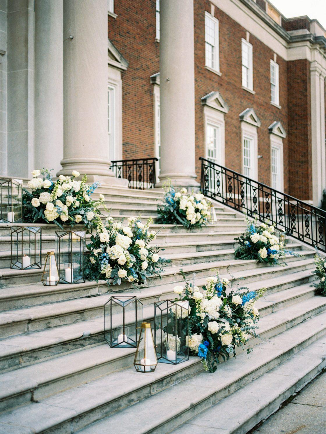 Chicago History Museum Steps Wedding