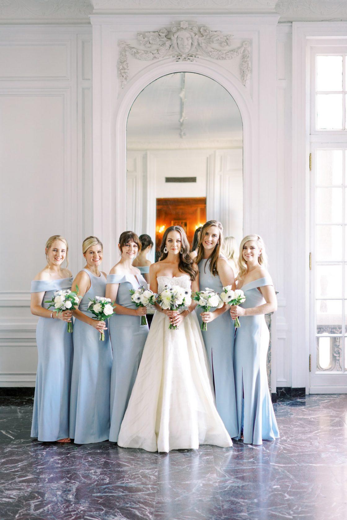 Elegant Powder Blue Bridesmaids Dresses