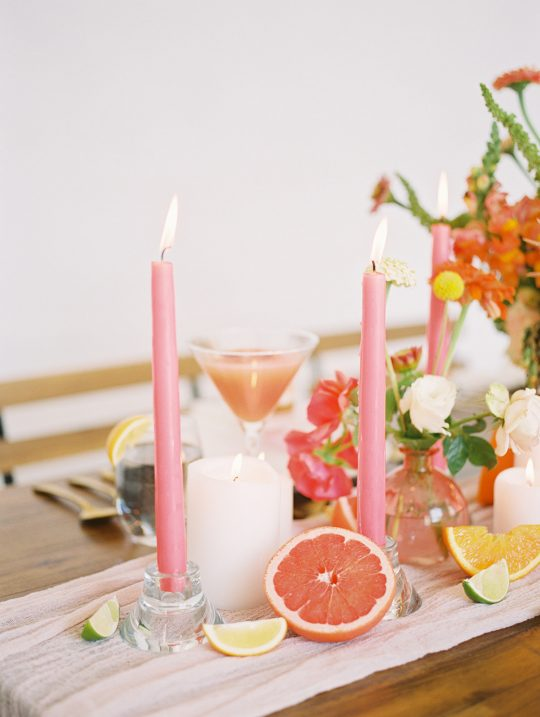 Grapefruit Martini Inspired Wedding Tablescape