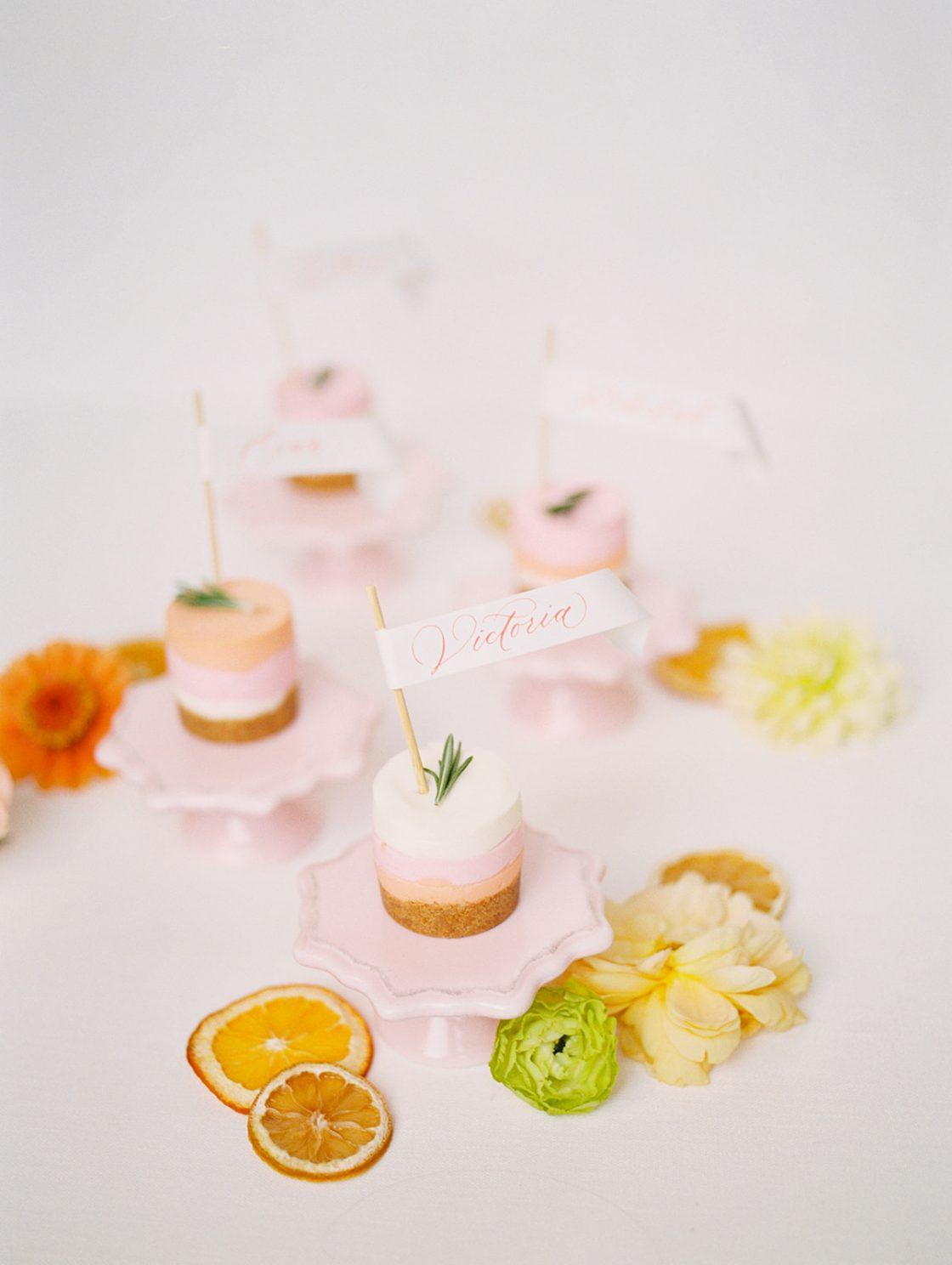 Mini Cheesecake Wedding Desserts