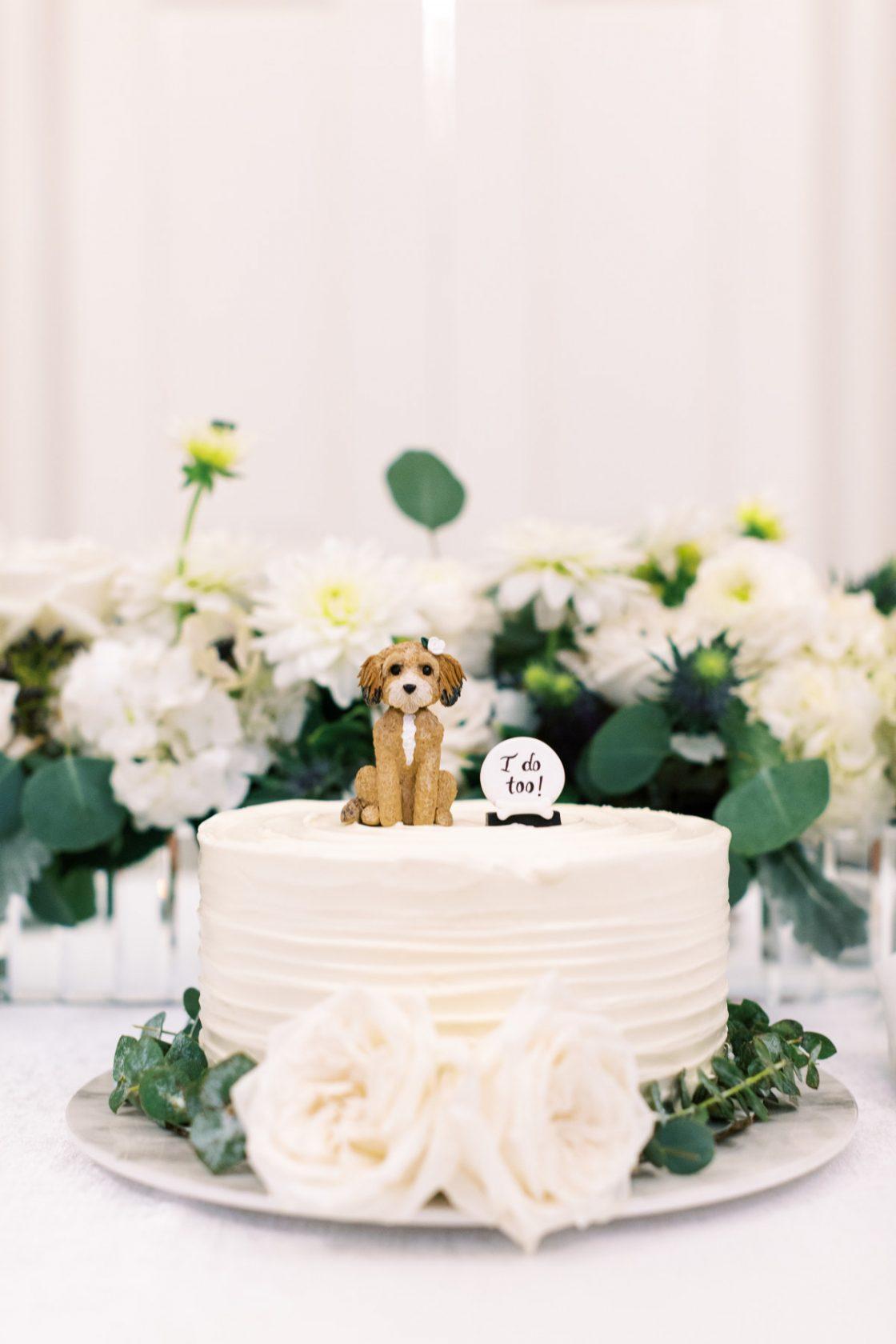 Puppy Wedding Cake Topper