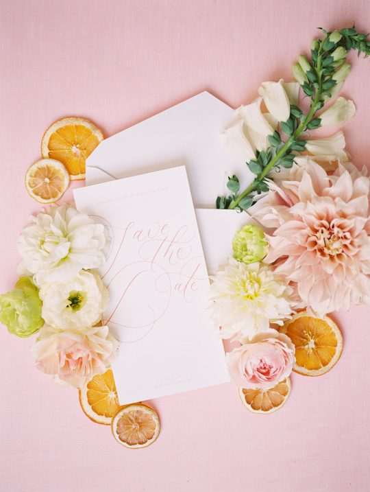 Summery Citrus Pastel Save the Date