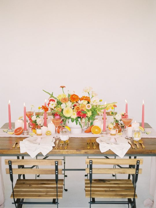 Tropical Punch Citrus Inspired Wedding Tablescape
