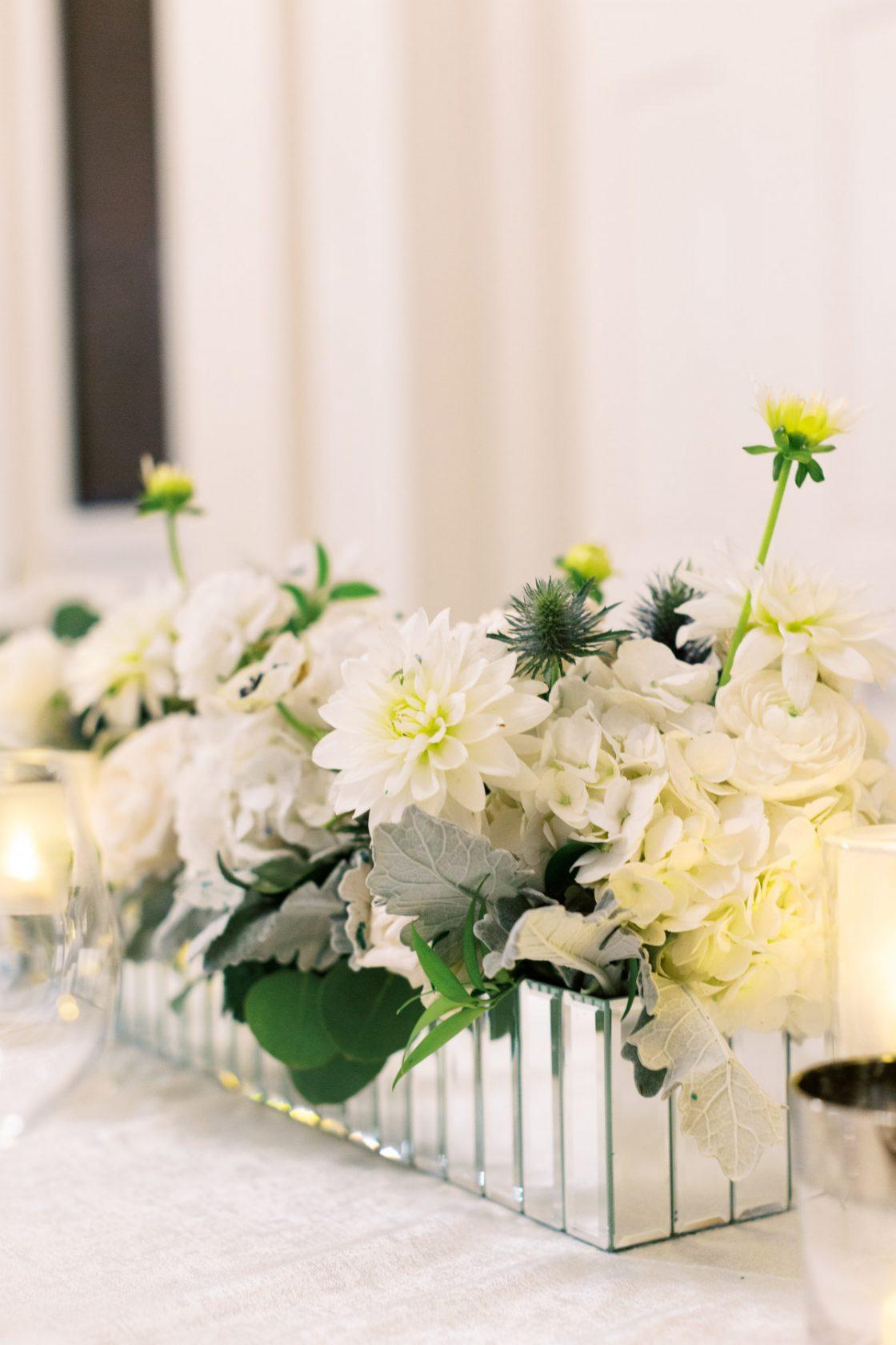 White Wedding Centerpiece