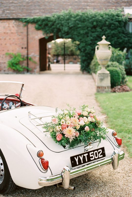 Garden Wedding Getaway Car