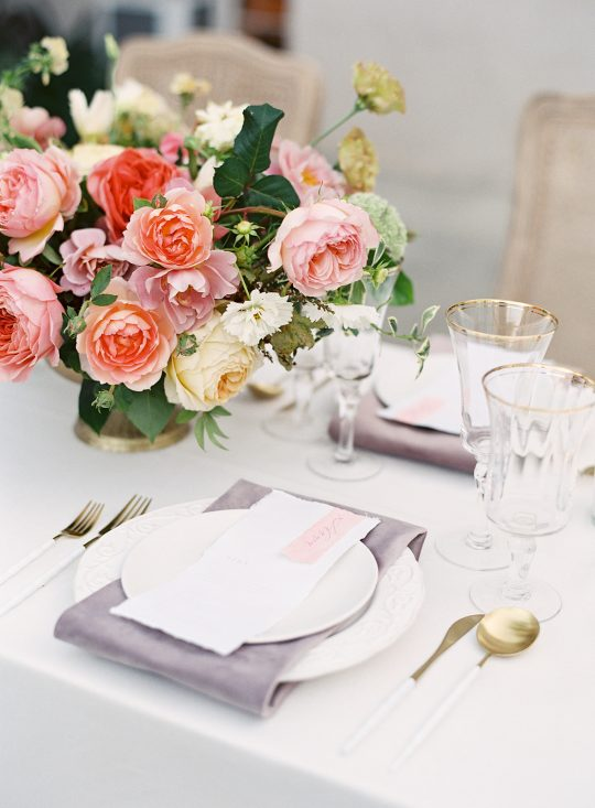 Modern Elegant Wedding Placesetting