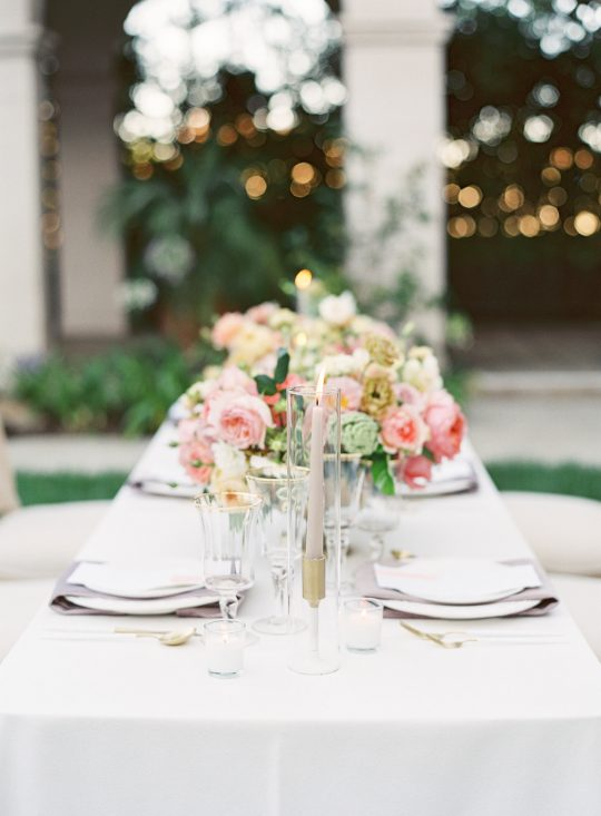 Modern Romantic Wedding Tablescape