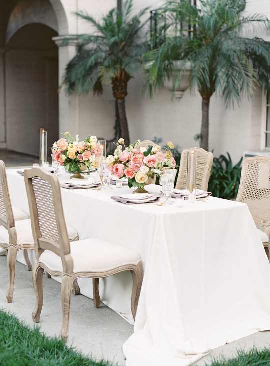 Romantic and Modern Micro Wedding Tablescape
