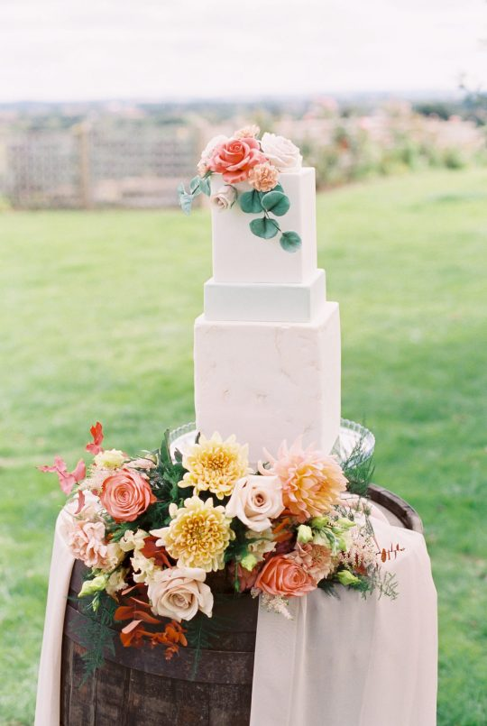 Square Wedding Cake