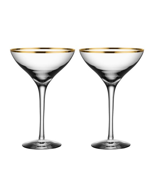 10 Neiman Marcus Gold Rimmed Champagne Coupes