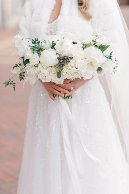 Classic Elegant White Wedding Bouquet