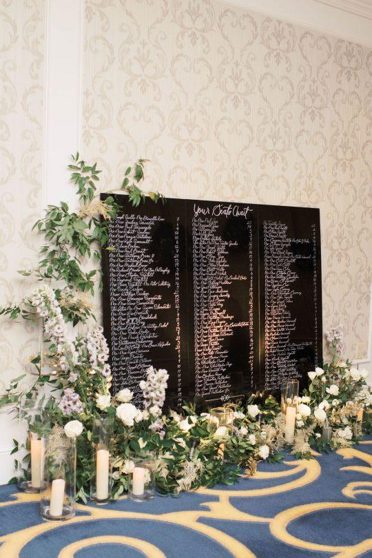 Elegant Chalkboard Wedding Seating Chart