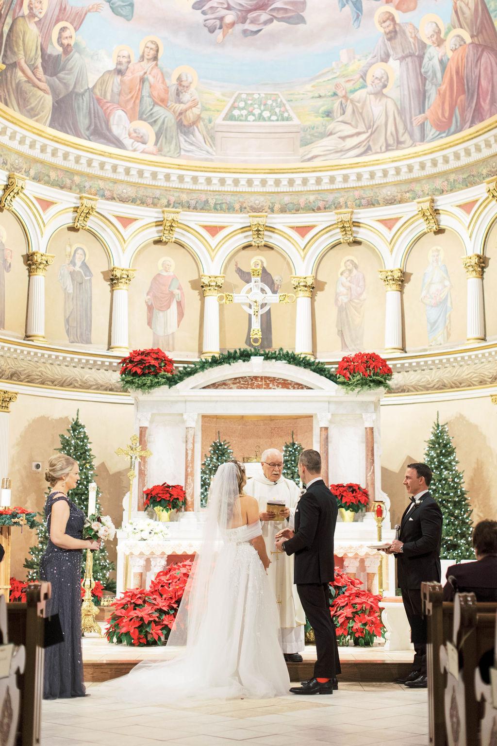 Elegant Christmas Wedding Ceremony