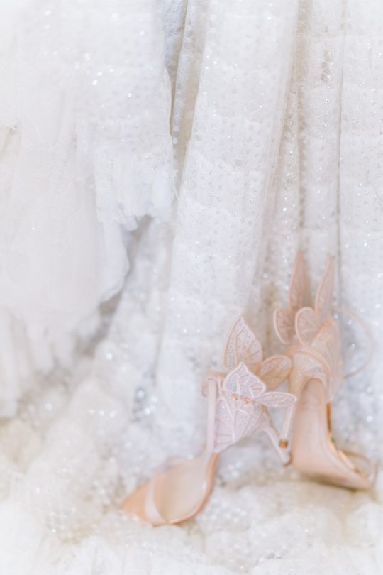 Fairy Tale Butterfly Rose Gold Wedding Shoes