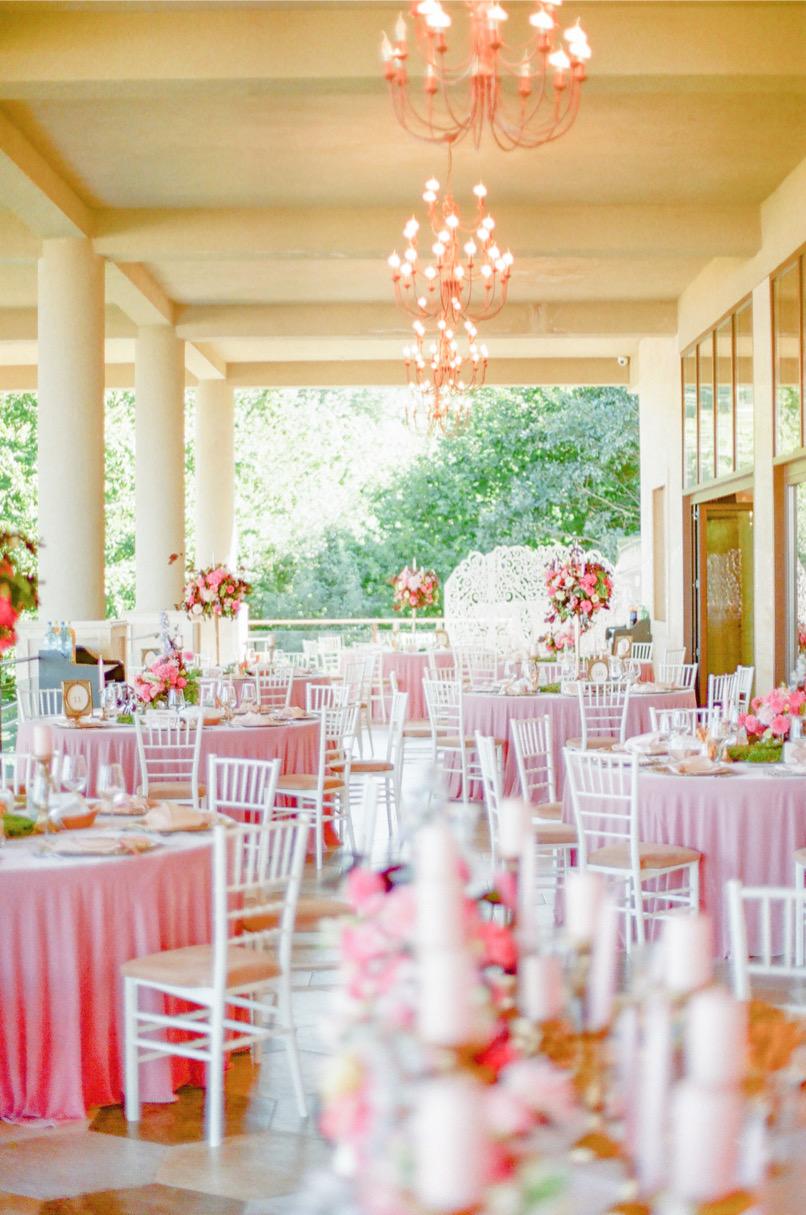 Fairy Tale Pink Wedding Reception