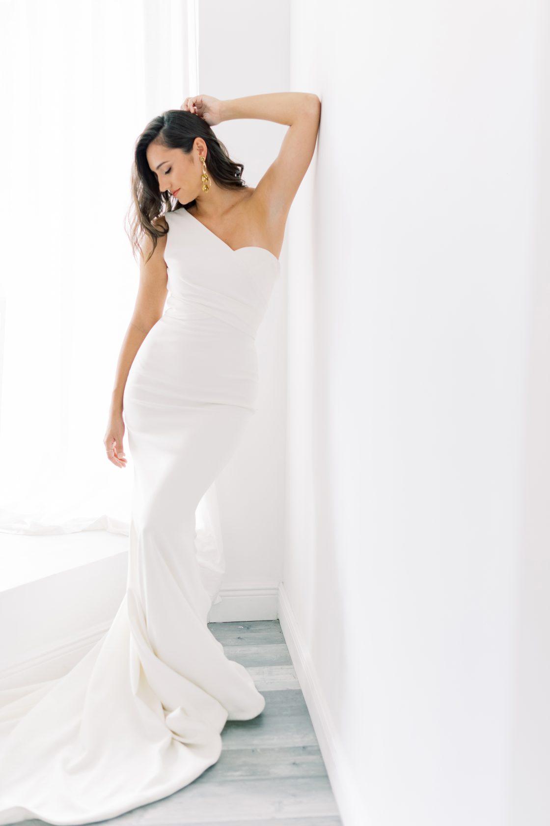 One Shoulder Wedding Gown