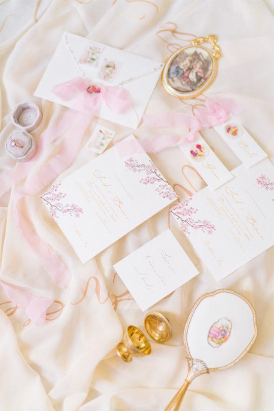 Romantic Antique Inspired Wedding Invitation Suite