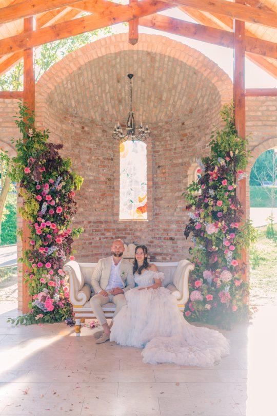 Romantic Garden Inspired Wedding Ceremony Floral Decor