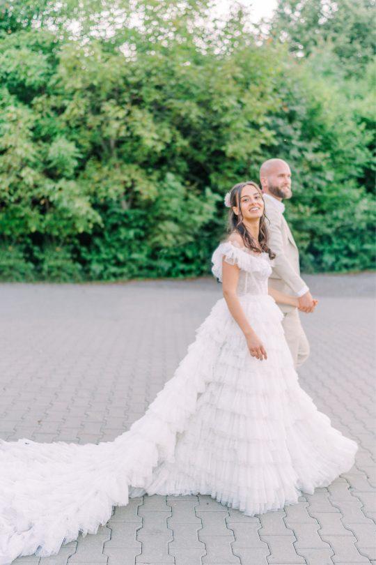 Romantic Gypsy Inspired Wedding Gown
