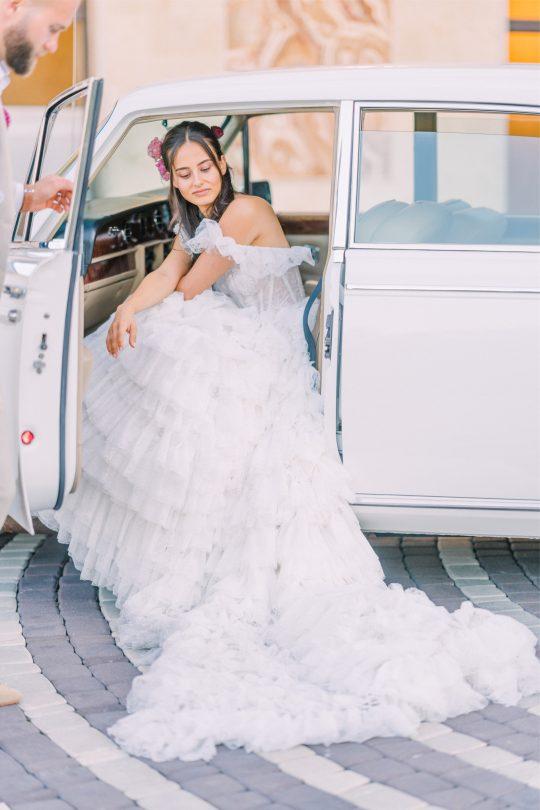 Romantic Rolls Royce Wedding Photo