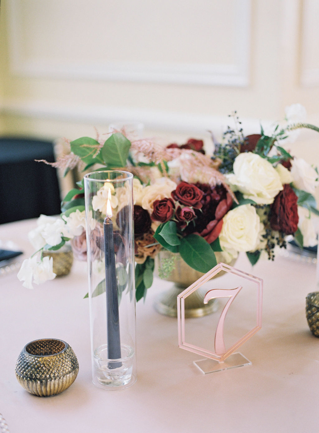 Rose Gold Acryllic table Number