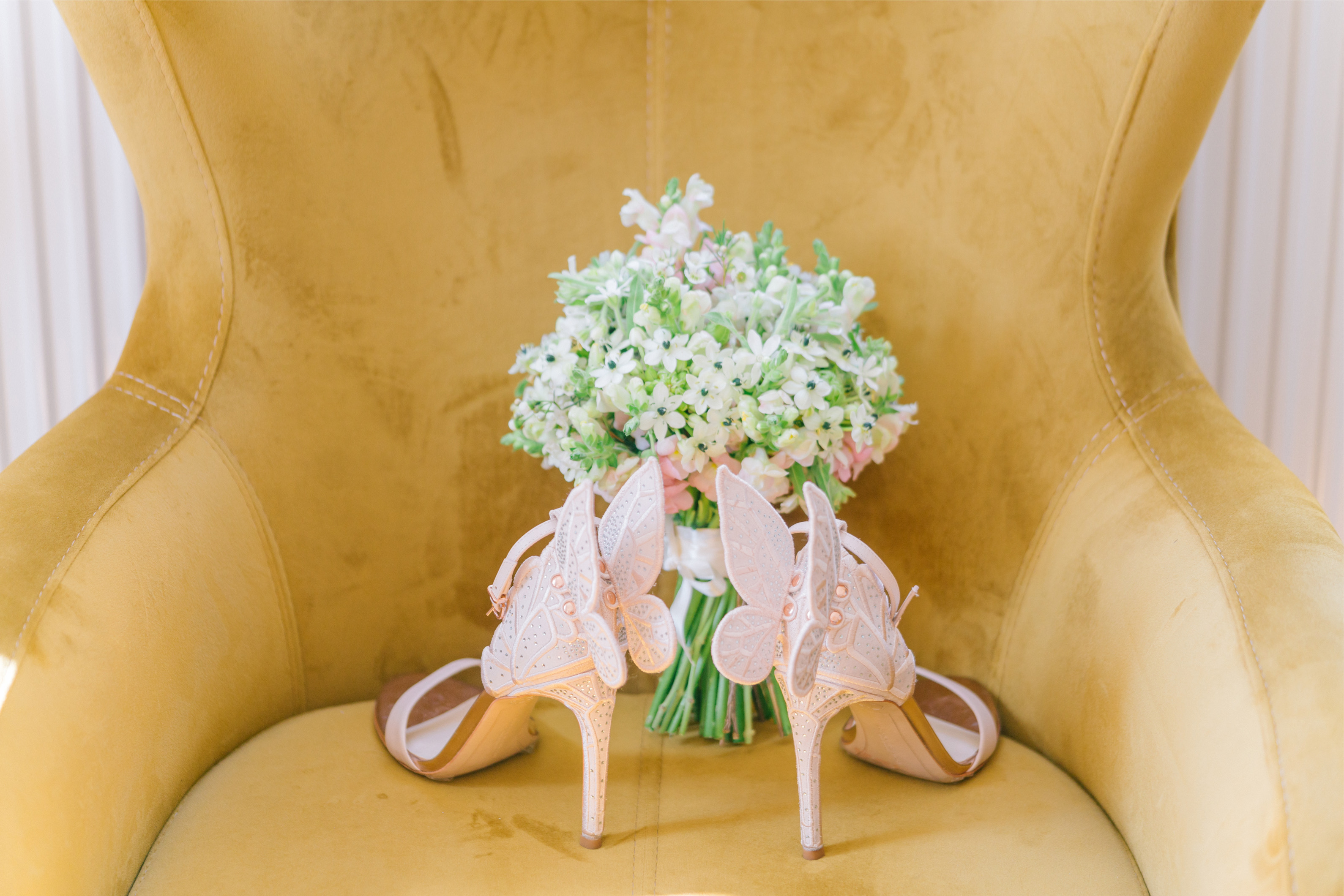 Rose Gold Butterfly Wedding Shoes