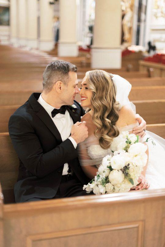 Sweet Bride and Groom Photo