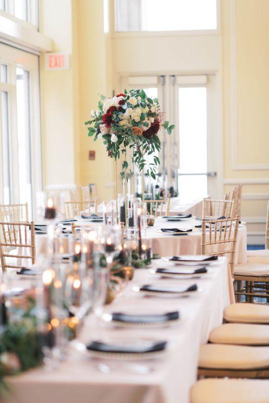 Tall Wedding Reception Centerpiece