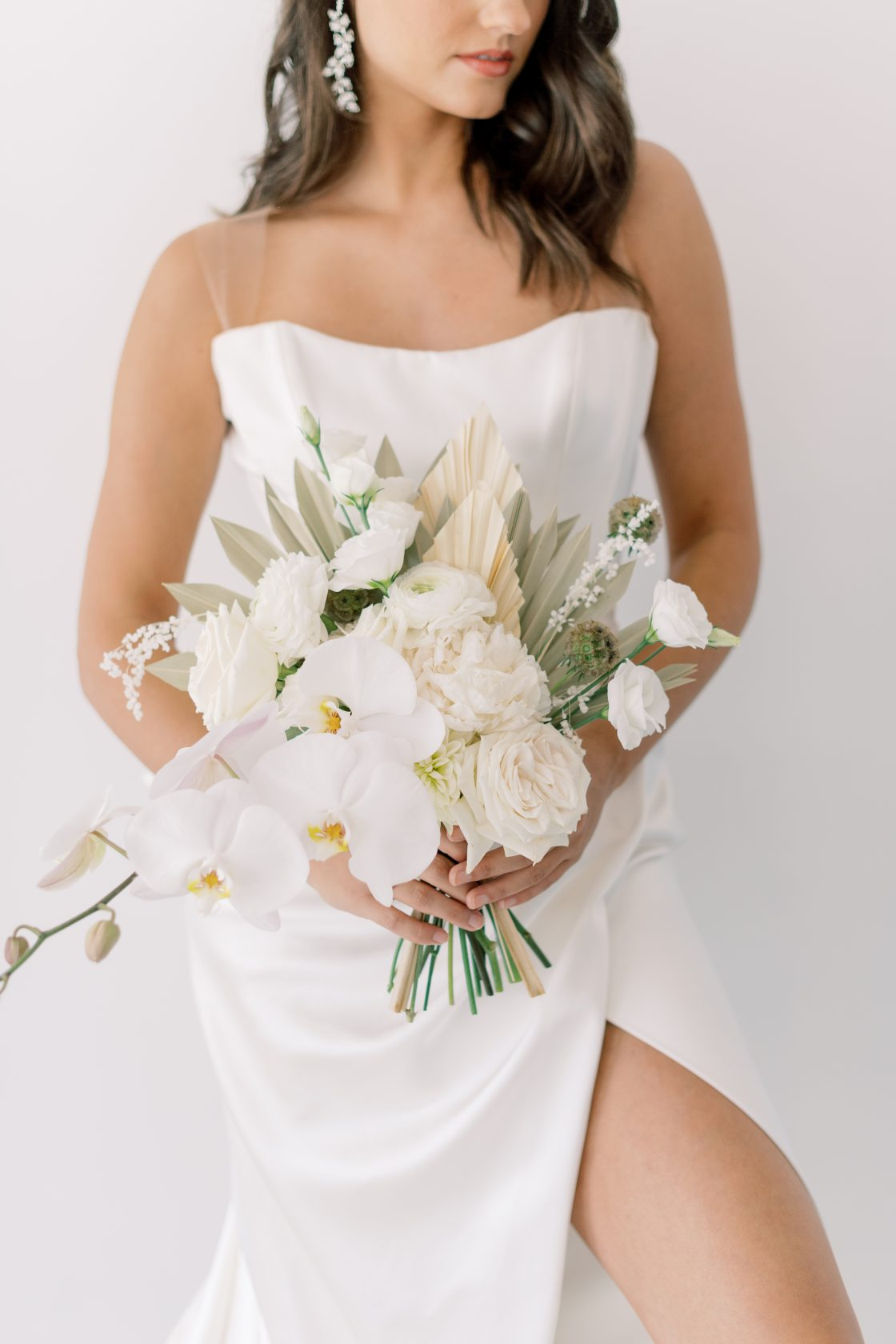 Wedding Dress with Illusion Straps and Back