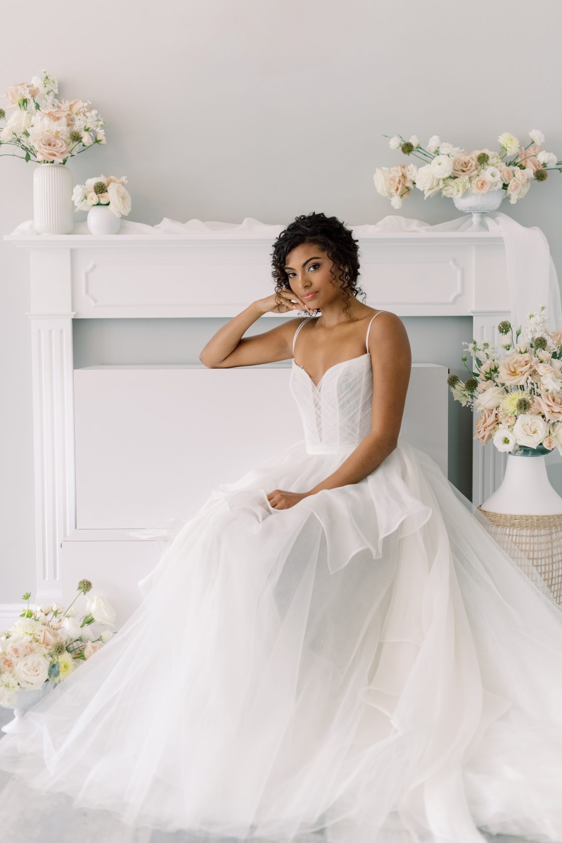Wedding Dress with Structured Bodice